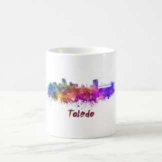 Toledo OH skyline in watercolor Coffee Mug