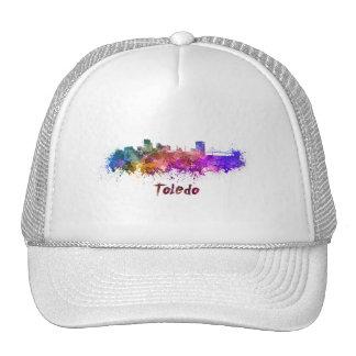 Toledo OH skyline in watercolor Trucker Hat