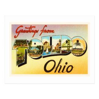 Toledo Ohio OH Old Vintage Travel Souvenir Postcard
