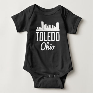 Toledo Ohio Skyline Baby Bodysuit