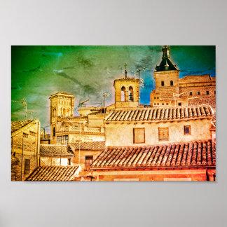 Toledo Roofs Poster