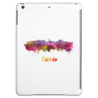 Toledo skyline in watercolor case for iPad air