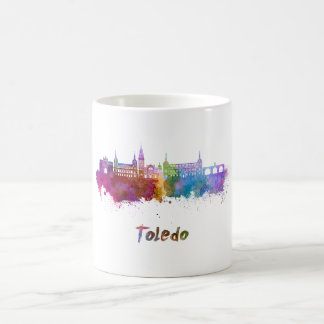 Toledo skyline in watercolor coffee mug
