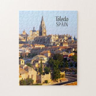 Toledo Spain custom text photo puzzles