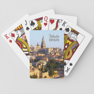 Toledo Spain custom text playing cards