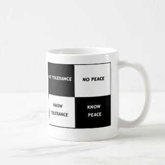 tolerance = peace coffee mug