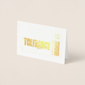 Tolerate those at your next gala or fundraiser. foil card