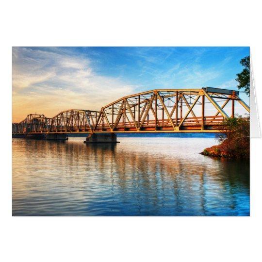 Toll Bridge Sunrise Card