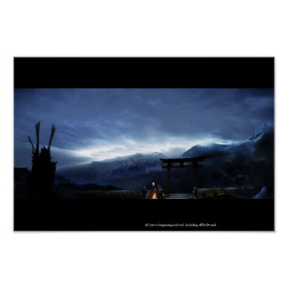 Tollgate (Matte Painting Enviroment) Poster