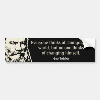 Tolstoy Quote Bumper Sticker