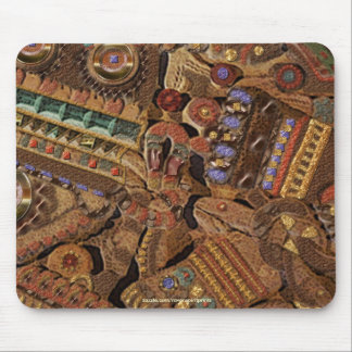 TOLTEC CARVING Ancient Culture Mousepad