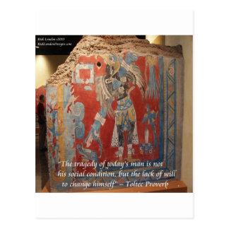 Toltec Empire Graphic & Famous Proverb Postcard