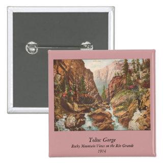 Toltec Gorge 2 Inch Square Button
