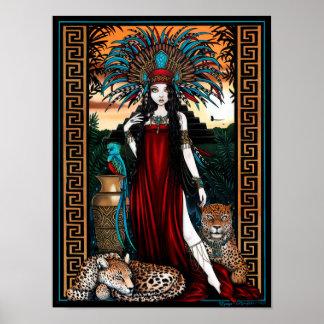 Toltec Jaguar Quetzal Priestess Zyanya Poster
