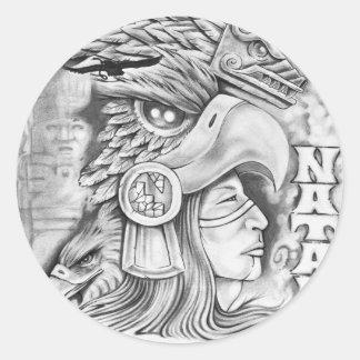 Toltec Warrior Round Sticker