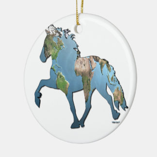 Tolting The World Ceramic Ornament