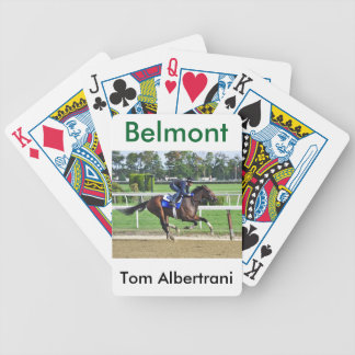 Tom Albertrani Morning Workouts at Belmont Bicycle Playing Cards