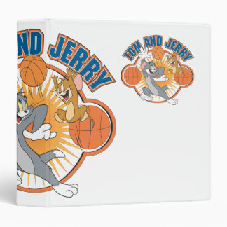 Tom and Jerry Basketball 4 3 Ring Binder