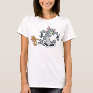 Tom and Jerry Black Paw Cat T-Shirt