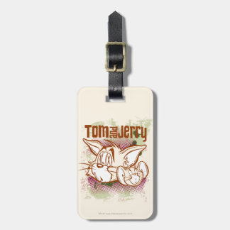 Tom and Jerry Brown and Green Luggage Tag