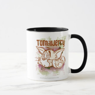 Tom and Jerry Brown and Green Mug