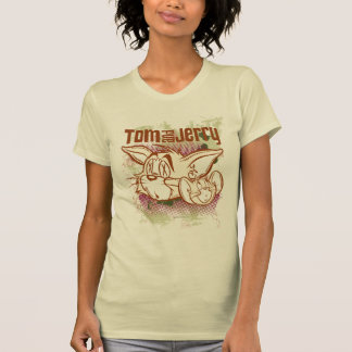 Tom and Jerry Brown and Green T-Shirt