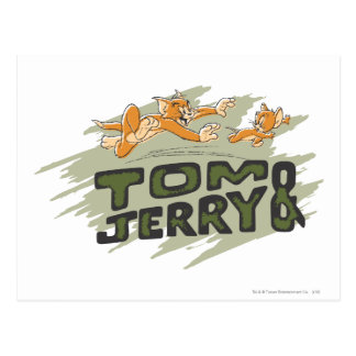 Tom and Jerry Chase Logo Postcard