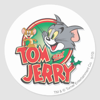 Tom and Jerry Classic Logo Classic Round Sticker
