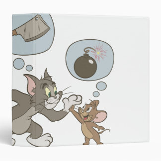 Tom and Jerry Evil Thoughts 3 Ring Binder