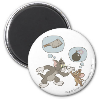 Tom and Jerry Evil Thoughts Magnet
