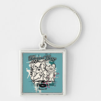 Tom and Jerry Hollywood CA Keychain