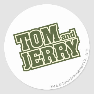 Tom and Jerry Logo 3 Classic Round Sticker