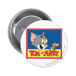 Tom And Jerry Logo Flat 2 Inch Round Button