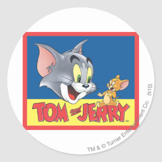 Tom And Jerry Logo Shaded Round Sticker