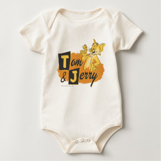 Tom and Jerry Mouse In Paw Logo Baby Bodysuit