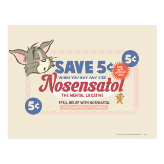 Tom And Jerry Nosensatol Coupon Postcard