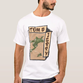 Tom and Jerry On A Tan Couch T-Shirt