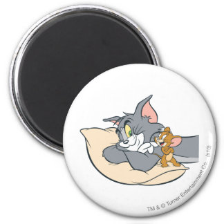 Tom and Jerry On Pillow Magnet