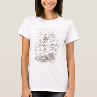 Tom and Jerry Outline T-Shirt