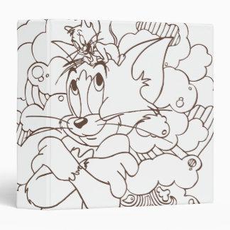 Tom and Jerry Outline Vinyl Binder