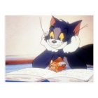 Tom And Jerry Read a Book Postcard