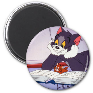 Tom And Jerry Reading Book Autographed Magnet