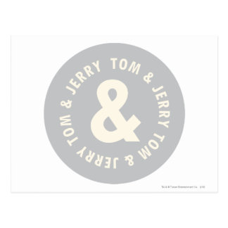 Tom and Jerry Round Logo 1 Postcard