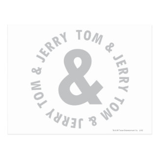 Tom and Jerry Round Logo 2 Postcard