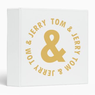 Tom and Jerry Round Logo 4 3 Ring Binder