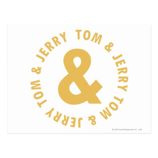 Tom and Jerry Round Logo 4 Postcard