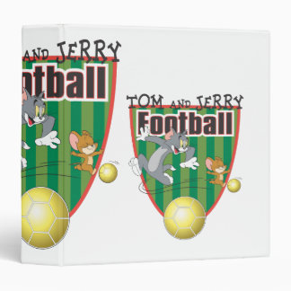 Tom and Jerry Soccer (Football) 6 3 Ring Binder