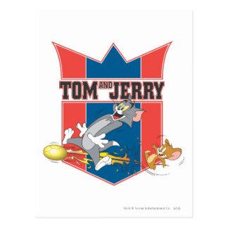 Tom and Jerry Soccer (Football) 7 Postcard