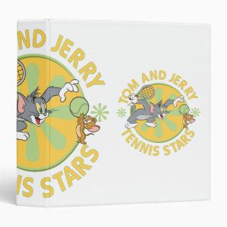 Tom and Jerry Tennis Stars 5 Vinyl Binder