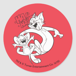 Tom And Jerry | Tom And Jerry Laughing Round Sticker